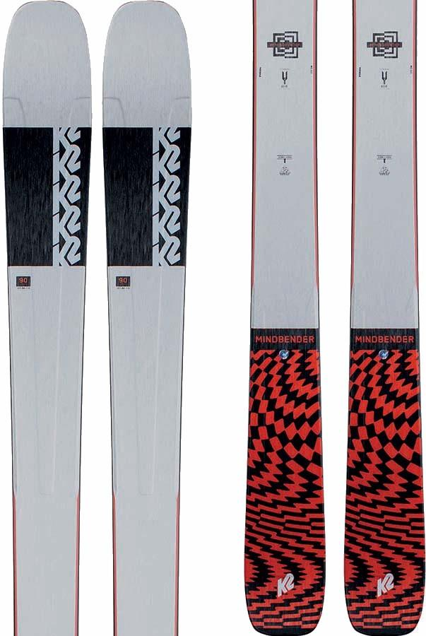 K2 Mindbender 90Ti Ski Only Skis, 170cm Grey/Red 2021