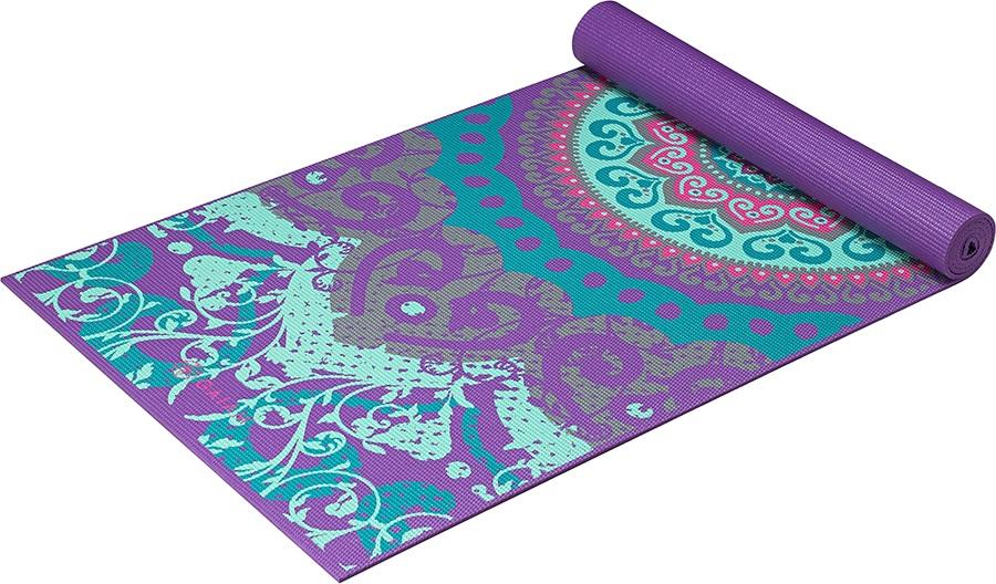 Gaiam Classic Printed Yoga/Pilates Mat, 4mm Moroccan Garden