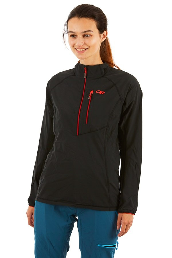 Outdoor Research Women's Ferrosi Windshirt Pullover, S Black
