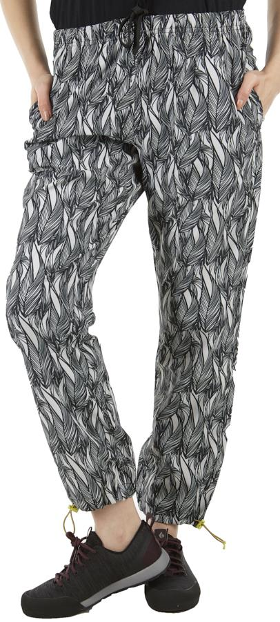 Kavu Womens Tela Relaxed Fit Women's Quick Dry Pants, Uk 12 Ink Leaf