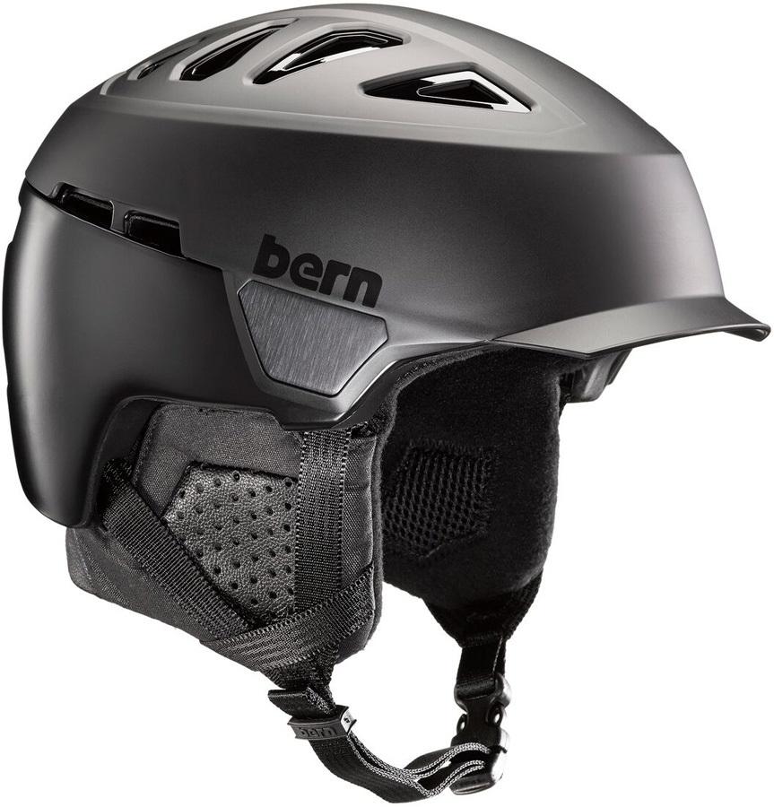 Bern Heist Brim Winter Snowboard Helmet, S Satin Black