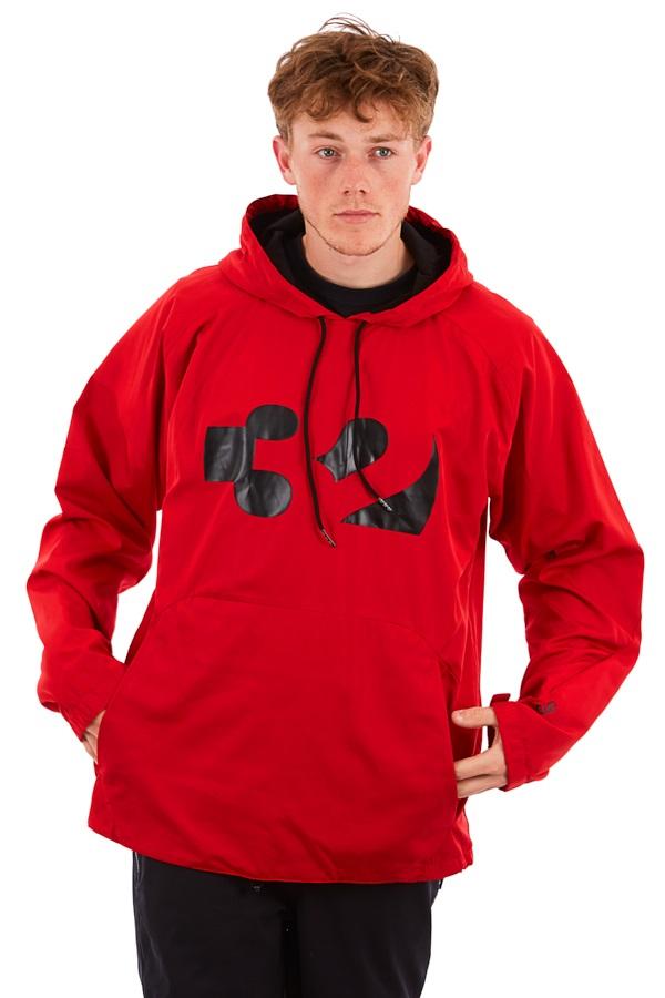 thirtytwo Apex Tech Anorak Technical Snowboard Hoodie, S Red/Black