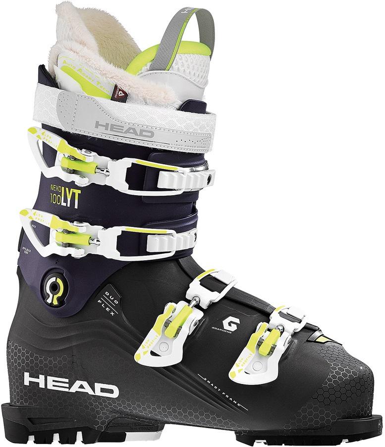 Head Nexo Lyt 100 W G Women's Ski Boots, 23/23.5 Anthracite/Violet 2019