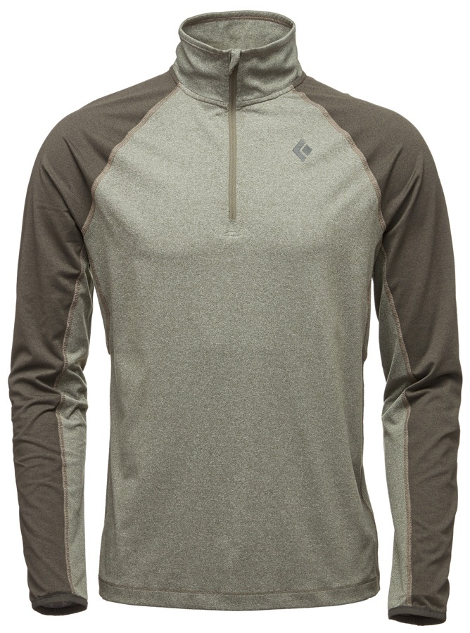 Black Diamond Approach Quarter Zip Fleece - XL, Burnt Olive