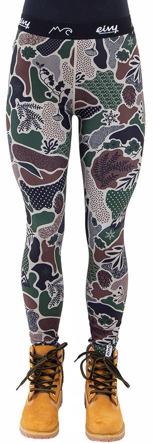 Eivy Icecold Tights Women's Baselayer Leggings, XS Camo Landscape