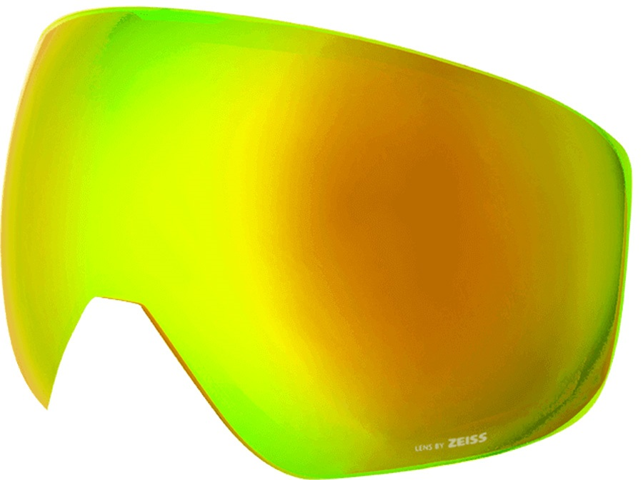 Melon Jackson Ski/Snowboard Goggle Lens, One Size Gold Chrome