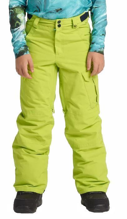 Burton Boys Exile Cargo Snowboard Pants, XL Tender Shoots