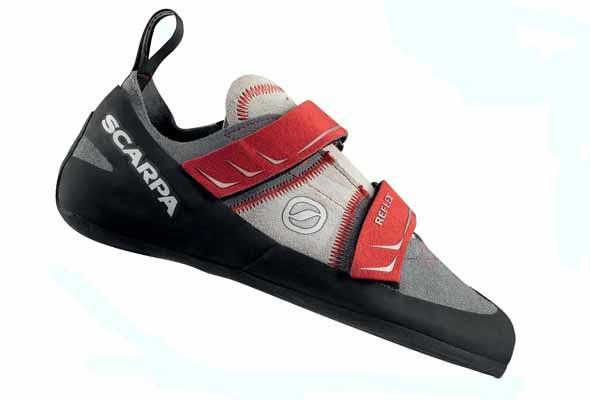 Scarpa Reflex Rock Climbing Shoe UK 9   EU 43 Smoke/Red