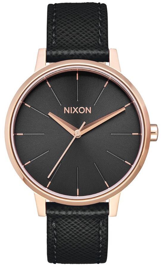 Nixon Kensington Leather Women's Analog Watch Rose Gold/Black