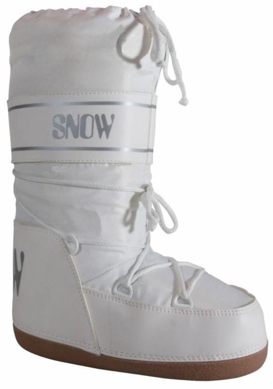 Manbi Space Snow Boots UK 3-4 (EU 35-37) White