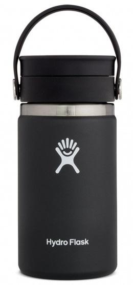 Hydro Flask 12oz Wide Mouth Flex Sip Lid Coffee Flask, 12oz Black