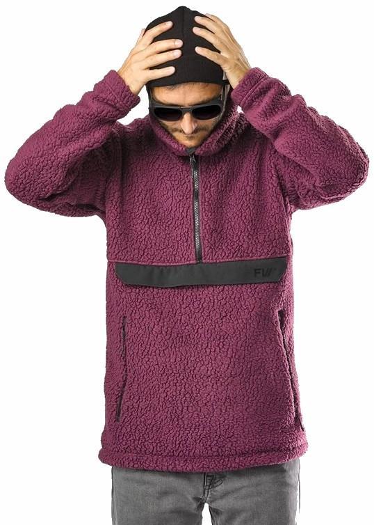 FW Root Pillow Pullover Midlayer Fleece Jacket, L Dark Plum