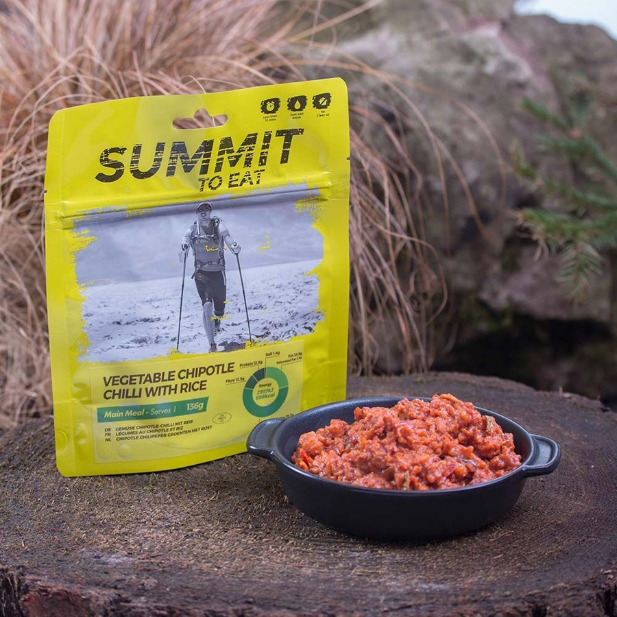 Summit To Eat Vegetable Chilli & Rice Camping & Trekking Food Large