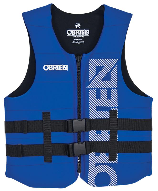 O'Brien Traditional Watersports Impact Buoyancy Aid, XS Blue