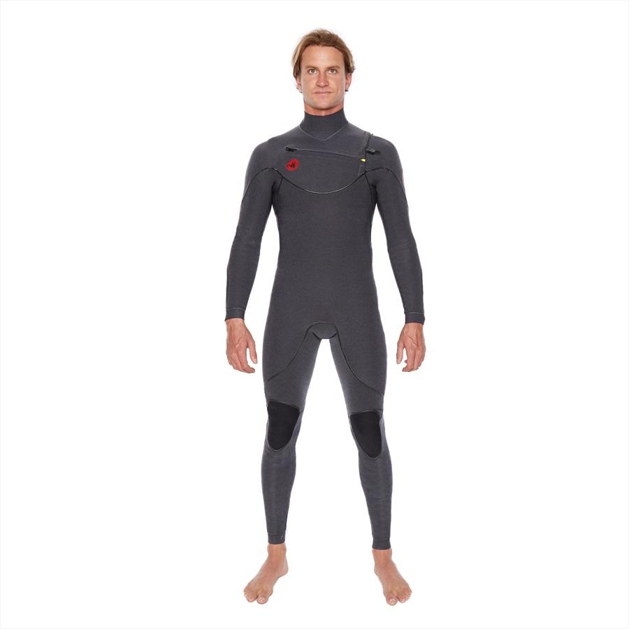 Body Glove Red Cell 2/2 Slant Zip Full Surfing Wetsuit, XL Jet Black