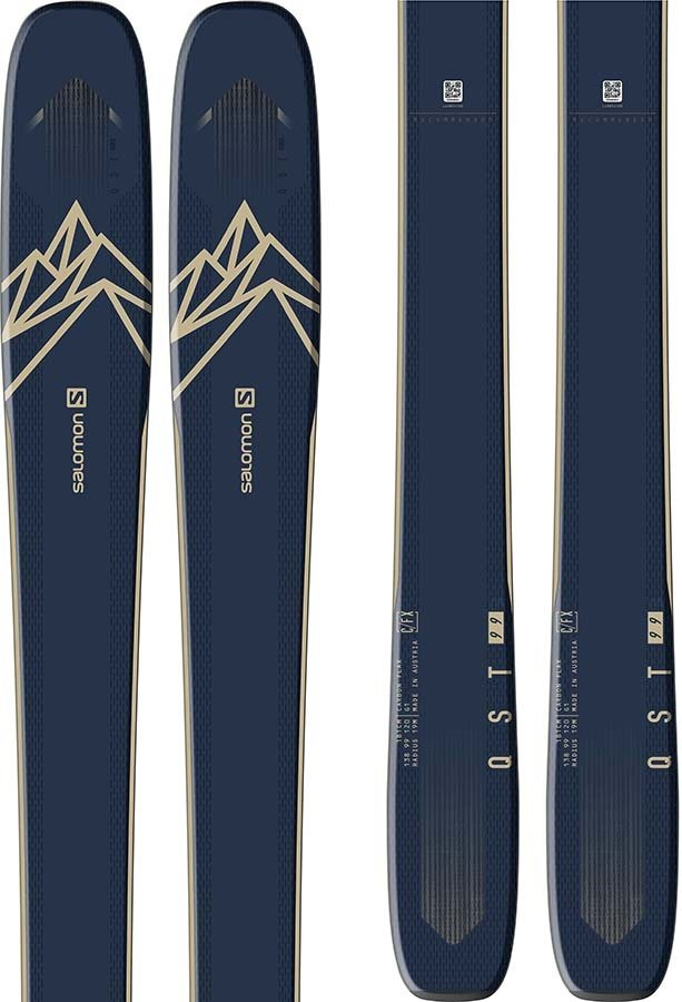 Salomon Adult Unisex Qst 99 Skis 188cm, Blue/Beige , Ski Only, 2021