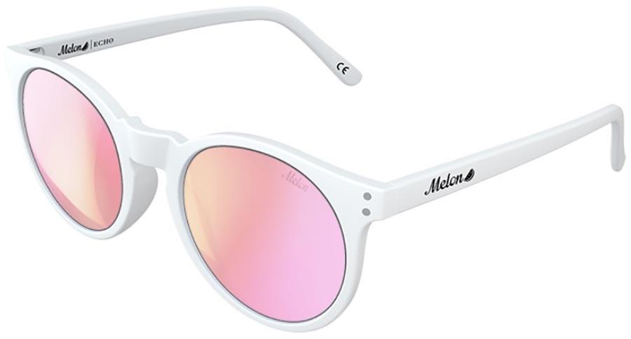 Melon Echo Pink Chrome Polarized Sunglasses, Marshmallow