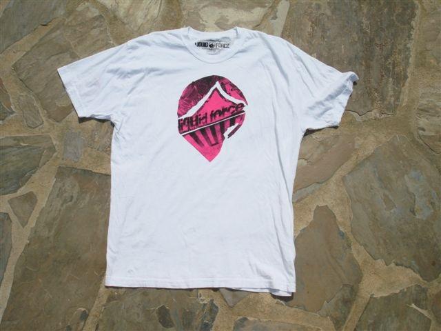 Liquid Force Punk Off T Shirt, XL, White Pink