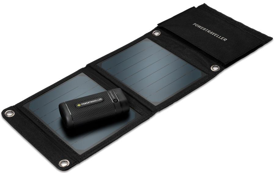 PowerTraveller Sport 25 Solar Kit Power Pack & Solar Panel, Black