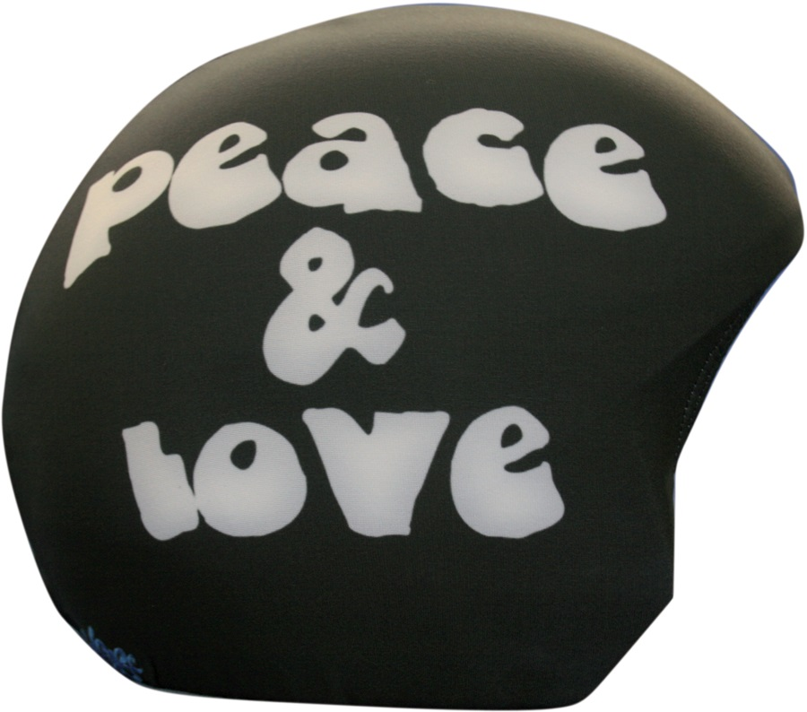 Coolcasc Printed Cool Ski/Snowboard Helmet Cover, Peace and Love