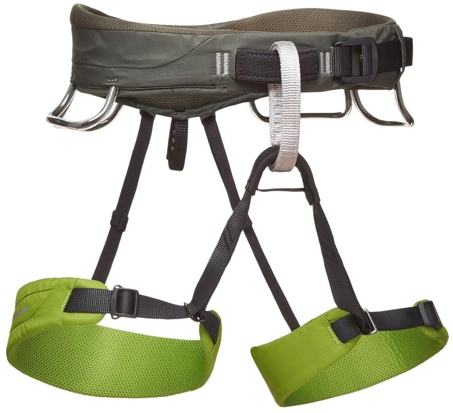 Black Diamond Momentum Rock Climbing Harness - XL, Verde