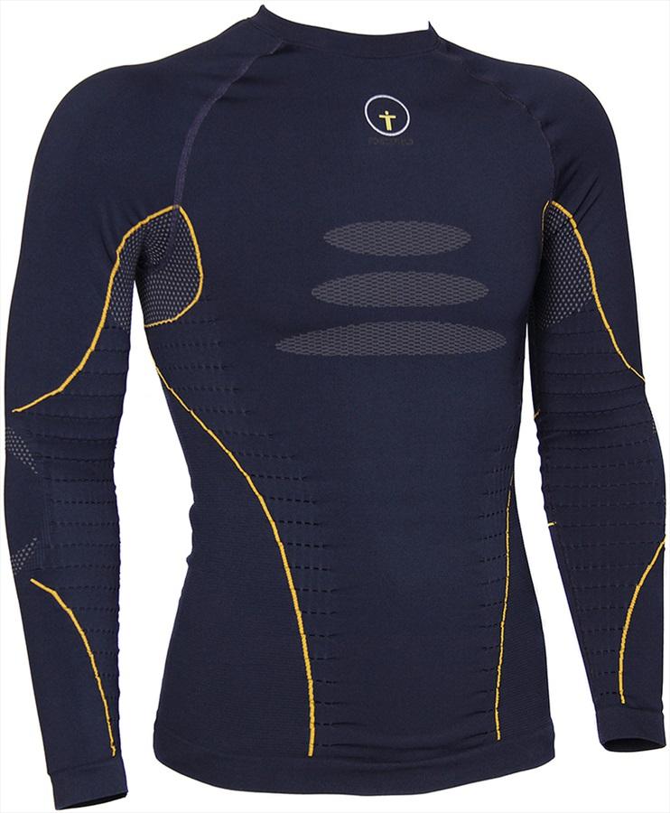 Forcefield Tech 2 Long Sleeve Baselayer Shirt, L Navy