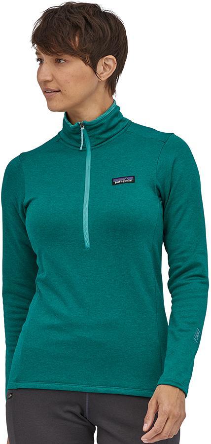 Patagonia R1 Daily Zip Neck Women's Fleece, UK 8-10 Borealis Green