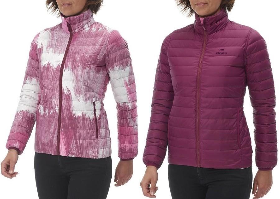 Eider Twin Peaks Reversible Women's Insulated Down Jacket, M, Pink