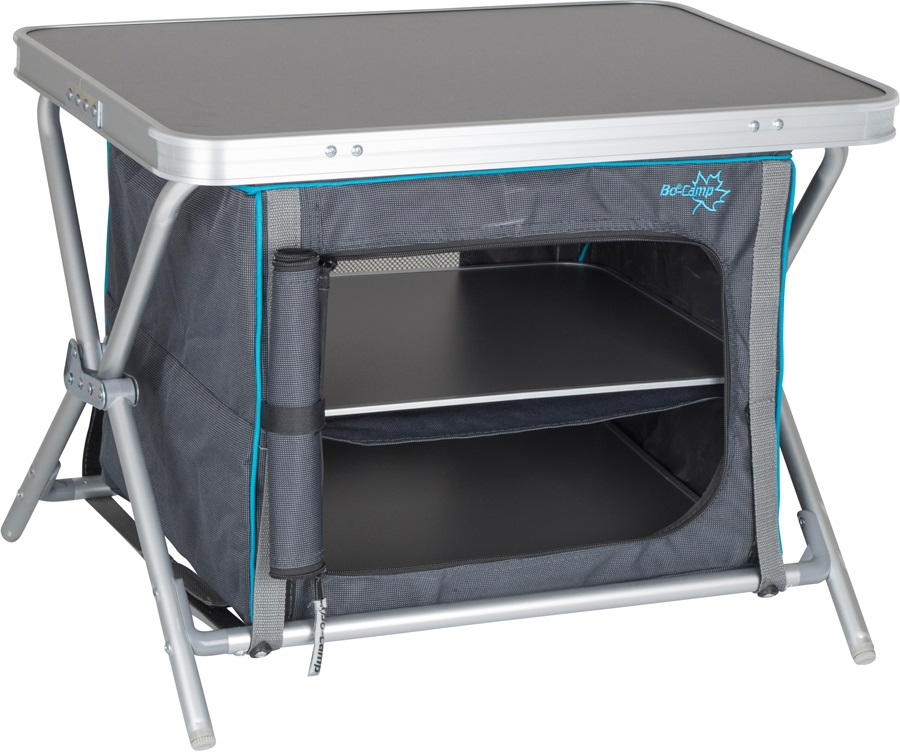 Bo-Camp Cupboard Low Compact Folding Camping Tavel Cabinet