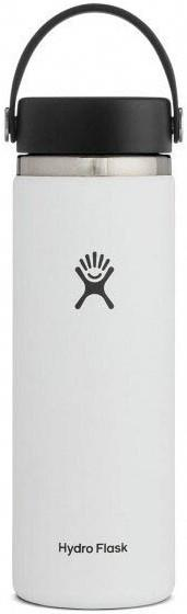 Hydro Flask 20oz Wide Mouth With Flex Cap 2.0 Water Bottle, White