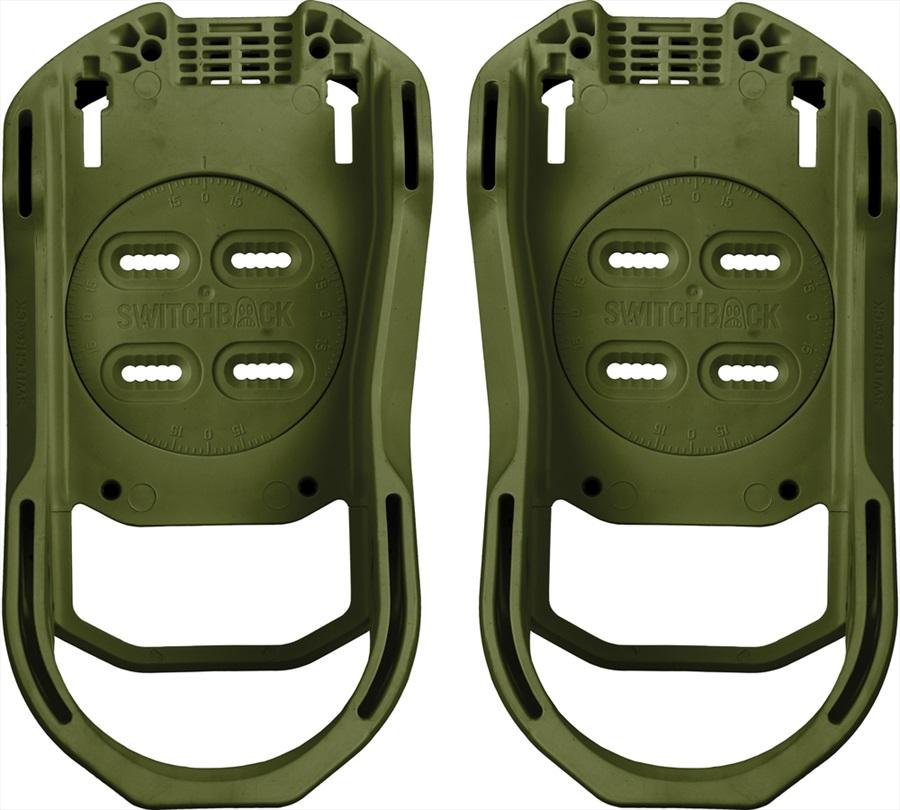 Switchback Base Snowboard Binding Baseplate, M (UK 6-9), Combat Green
