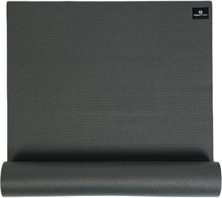 Yoga Studio Sticky Yoga/Pilates Non-Slip PVC Mat, 6mm Graphite Grey
