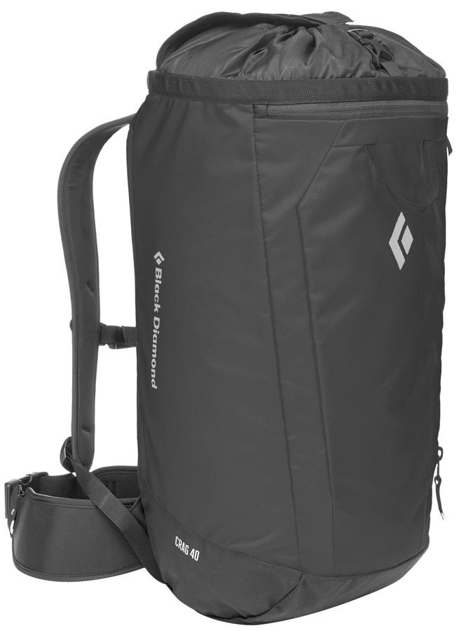 Black Diamond Crag 40 Backpack S-M Climbing Gear Bag, 38L Black