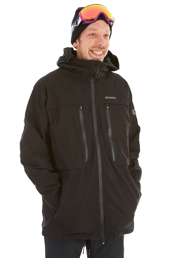 Bonfire Terra 2l Stretch 3-In-1 Ski/Snowboard Jacket, S Black