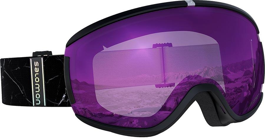 Salomon Ivy Ruby Women's Snowboard/Ski Goggles, S/M Black Marble