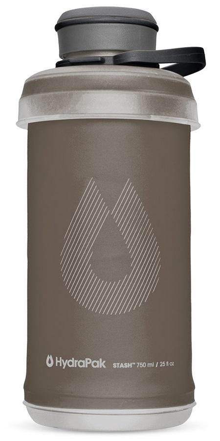 HydraPak Stash Bottle Collapsible Water Bottle, 750ml Mammoth Grey