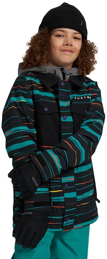 Burton Uproar Boy's Snowboard/Ski Jacket, M True Black Scribble