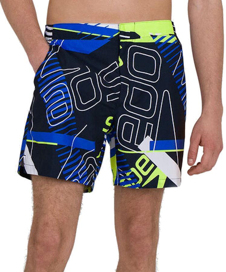 "Speedo Vintage Paradise 16"" Men's Swim Shorts, XL Navy/White"