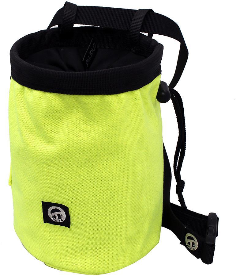 Charko Tube Rock Climbing Chalk Bag, Regular Fluo Yellow