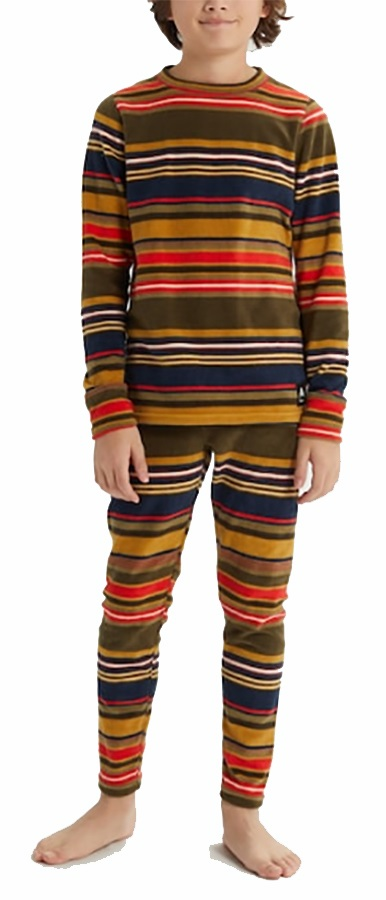 Burton Kid's 1st Layer Ultrawicking Fleece Set, M Gratz Stripe