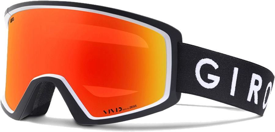 Giro Blok Vivid Ember Ski/Snowboard Goggles, L Black/White Core
