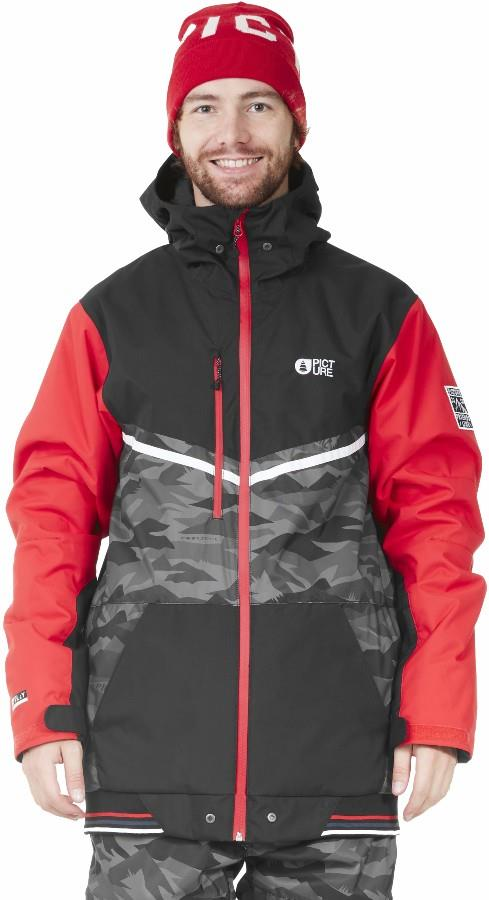 Picture Panel Ski/Snowboard Jacket, L Metric Black