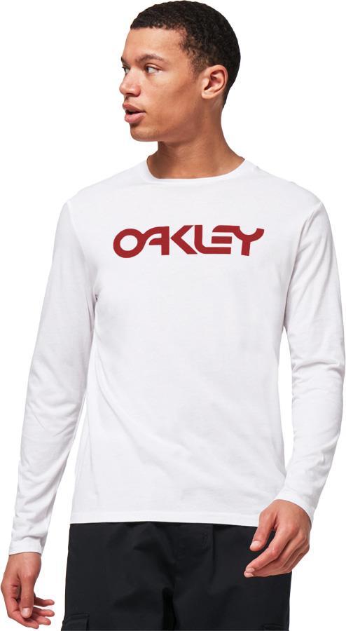 Oakley Men's Mark II Long Sleeve T-Shirt, L White/Red