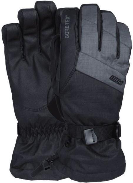 POW Adult Unisex Warner Gore-Tex Long Ski / Snowboard Gloves, S Charcoal