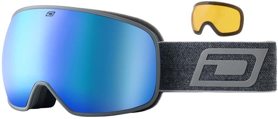 Dirty Dog Mutant 0.5 Blue Kids' Snowboard/Ski Goggles, S Dark Grey