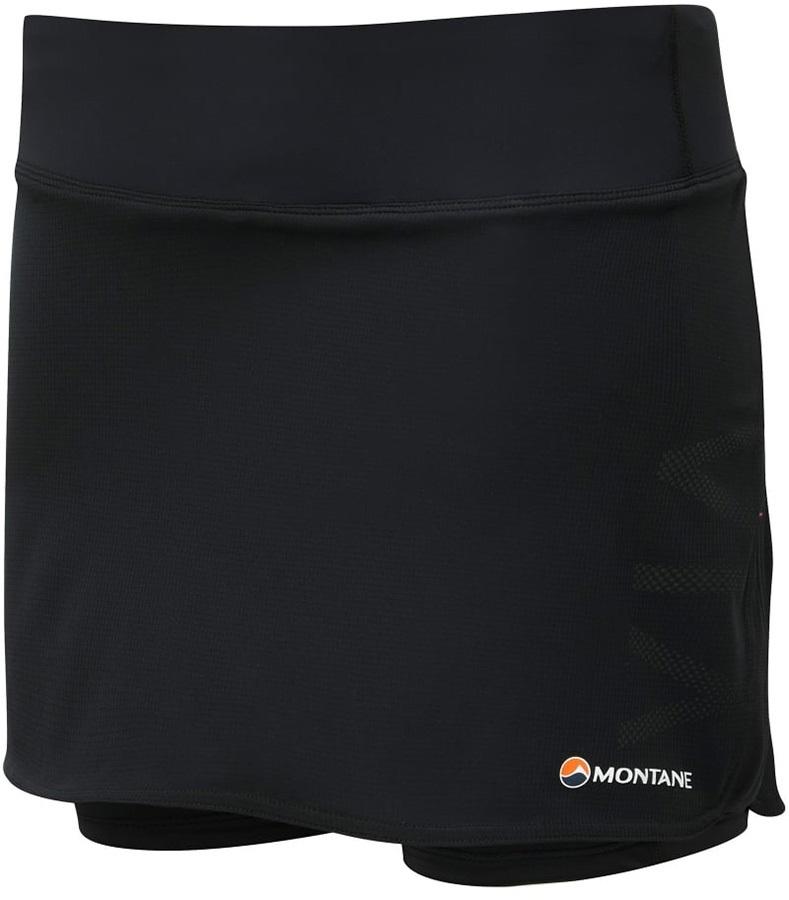 Montane Womens Trail 2sk Women's Inner Tights Running Skort, L Black