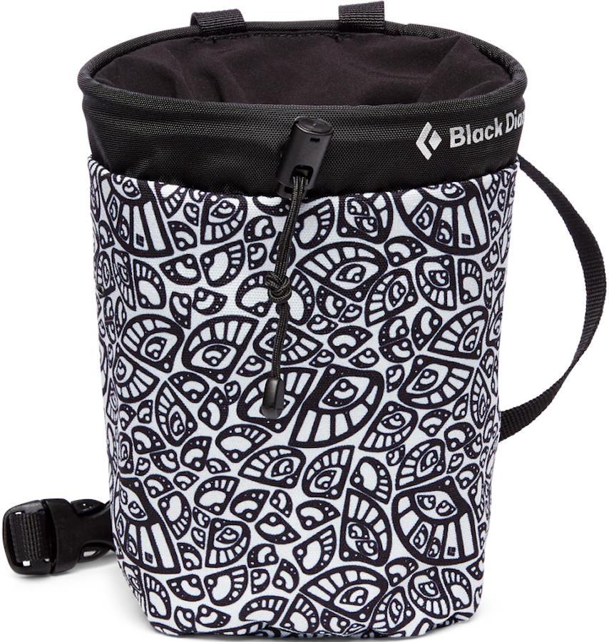 Black Diamond Gym Rock Climbing Chalk Bag, M/L Cam Lobe Print