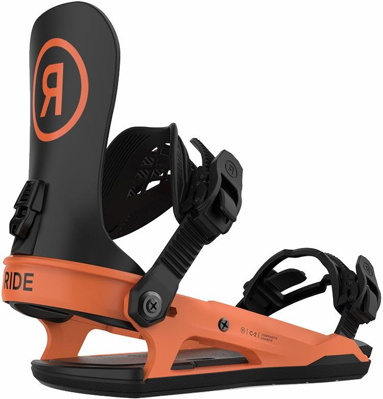 Ride C-2 Snowboard Bindings, L Orange 2021