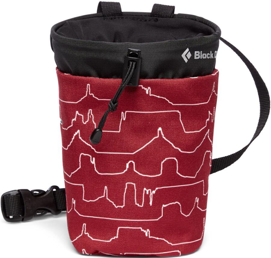 Black Diamond Gym Rock Climbing Chalk Bag, S/M Desert Print