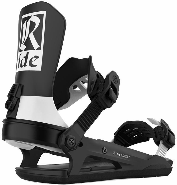 Ride C-8 Snowboard Bindings, M Classic Black 2021